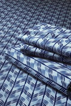 Boys' 200-count Percale Print Multi Stripe Sheet Set from Lands' End