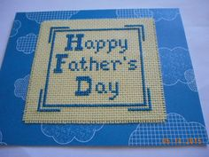 cross stitch Father's Day Card available in my etsy shop  DebbyWebbysCards