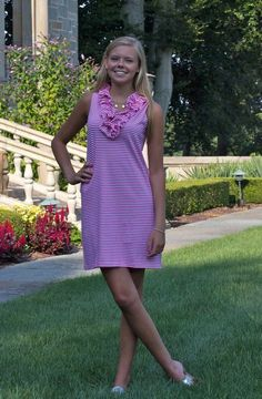 5d8cefff5c10 sailor-sailor Skipper Sleeveless Dress-Small Cotton Pink Stripe comes in  lots of colors