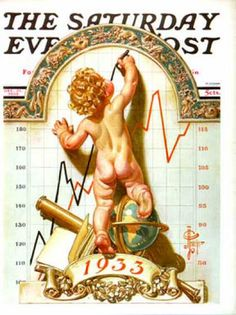 Norman Rockwell Saturday Evening Post - Baby New Year Charting 1933 Old Magazines, Vintage Magazines, Vintage Ads, Vintage Photos, Vintage Books, Vintage Postcards, The Saturdays, Jc Leyendecker, Baby New Year