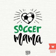 Soccer Mama SVG Decal Cutting File Soccer Mom Football by SVGfarm
