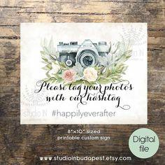 printable wedding instagram sign green custom by StudioInBudapest