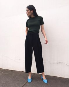 pennylanelikes:  Me / @jacquemus top / @acnestudios pants / @maryam_nassir_zadeh shoes / #jacquemus #acne #mnz