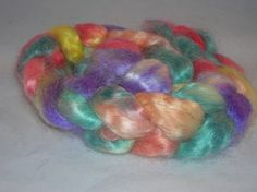 Kid Mohair Wool Roving  Hand dyed Spinning by SussesSpindehjrne, $25.00