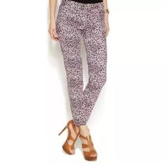Michael Kors cheetah pants- SIZES: 8, 10 & 14 Brand new with $110 tags. Sizes available: 8, 10, & 14. Gold hardware. Belt loops, too! Even prettier in person. Michael Kors Pants Trousers