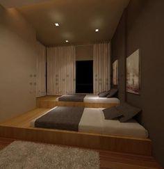 sunken bed
