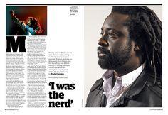 Guardian g2 opening spread (Marlon James, Booker winner 2015)