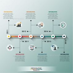 Business infographic : Modern Infographic Minimal Timeline Template #design Download: graphicriver.net/