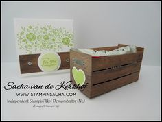 Stampin' Sacha - Stampin' Up! - Annual Catalogue 2017-2018 - Wood Words - Wood Crate Framelits - Wood Texture DSP - Treat Box - #stampin_sacha - #stampinup #treatbox