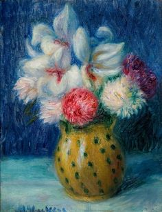 william glackens flowers | William Glackens, Flowers in a Spotted Jug