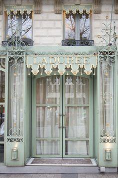 67 Best ideas for entrance door colors paris france Laduree Paris, Paris Chic, I Love Paris, Shop Fronts, Cafe Restaurant, Design Thinking, Architecture, Windows And Doors, Metal Windows