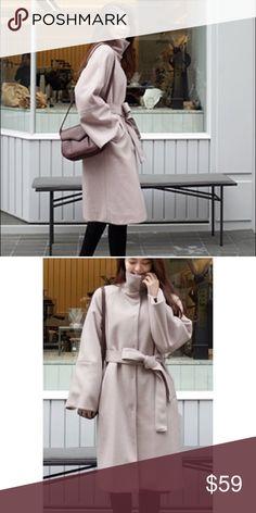 Cherrykoko dusty pink wool coat Size: one size, fits like medium, wool coat with padding inside for extra warm. New without tag cherrykoko Jackets & Coats Pea Coats