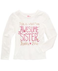 Epic Threads Mix and Match Awesome Sister Graphic-Print Shirt, Little Girls (4-6X), Created for Macy's  | macys.com
