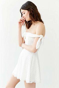 Lace Off-The-Shoulder Mini Dress