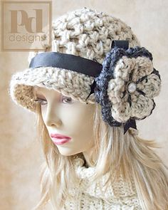 Crochet a trendy and adorable Chunky Newsboy hat for yourself or as a gift !! Pattern is designed for average ladies head.