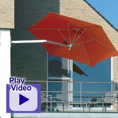 This commercial grade 9' Wall Mount Umbrella that tilts up to 30 degrees is made with Silver anodized aluminum, saltwater resistant frame. Best quality shade for $881.00 sale price.  Product ID : SHD-Wallflex #PatioUmbrella