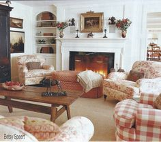 Betsy Speerts Blog: A Country Living Room in the Vermont Mountains