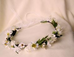 Daisy Headwreath flower crown Bridal Hippie Wedding hair Accessories Ready to Ship 70s flower power hair wreath Price: $33