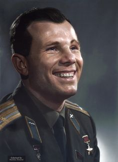 Juri Gagarin - Soviet pilot and cosmonaut. He was the first human to journey into outer space, when his Vostok spacecraft completed an orbit of the Earth on 12 April Photo Yousuf Karsh Yuri, Juri Gagarin, Yousuf Karsh, Celebridades Fashion, Grace Kelly, Propaganda Art, Communist Propaganda, Historia Universal, Boys Don't Cry