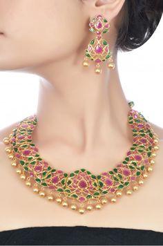 Silver Floral Necklace Set