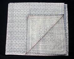 Bedding Indian-handmade-quilt Vintage Kantha Bedspread-throw Cotton Blanket Ralli Gudri< Extremely Efficient In Preserving Heat