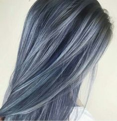 Denim blu grey pastel hair