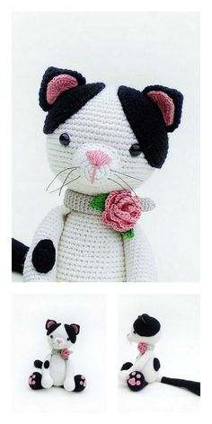 Crochet basket 719872321676208788 - Amigurumi Plush Cat Free Pattern – Free Amigurumi Patterns Source by belymartine Gato Crochet, Kawaii Crochet, Crochet Cat Pattern, Crochet Patterns Amigurumi, Amigurumi Doll, Crochet Dolls, Free Crochet, Free Pattern, Crochet Gifts