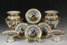 (22 PCS) NAST OLD PARIS PORCELAIN DESSERT SET - Gilt