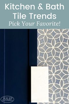 Whether you're looking to update your kitchen or bathroom, we've got some tile trends you should explore. These 4 design concepts can be applied to any home. You're sure to find some useful tips Cabinets And Countertops, Bath Tiles, Wall Paint Colors, Kitchen And Bath, Kitchen Decor, Handmade Tiles, Beautiful Bathrooms, Tile Patterns, Design Concepts