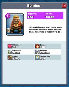 New Deck of Clash Royale Builder #Builder #clash #royale