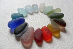 Rainbow sea glass selection  15 lovely by Alienstoatdesigns, $35.00