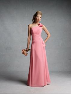 A-ligne robes demoiselle honneur en mousseline de soie