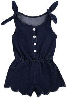 581370a1f682 35% off + free shipping! SHOP Our Denim Romper for Baby   Toddler Girls