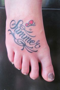 Something similar for Alaina...might be a little hard to fit Alaina Mackenzie on my foot though!