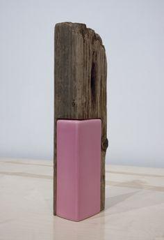 """Alex Chitty, Untitled, 2011 Alex Chitty Untitled, 2011 Recovered wood, ceramic vase, 4.5"""" x 6.75"""" x 16"""""""