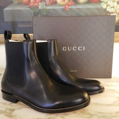 Gucci is a worldwide legend in designer fashion for men, renowned for its quality, prestige, and Italian legacy. With timeless style & iconic appeal, this fine-grain leather boot will take your style to new heights. Check them out here at http://www.ebay.com/itm/191197042728?ssPageName=STRK%3AMESELX%3AIT&_trksid=p3984.m1555.l2649