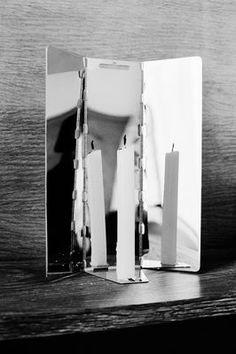 Bougeoir de voyage / Miroir - A poser ou suspendre Miroir - Maison Martin Margiela