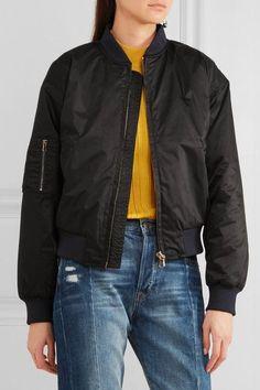 GANNI Greenwood shell bomber jacket