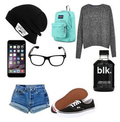 """""""Watching Luke do my math homework"""" by broken-dreamer1 on Polyvore featuring Levi's, French Connection, Vans and JanSport"""