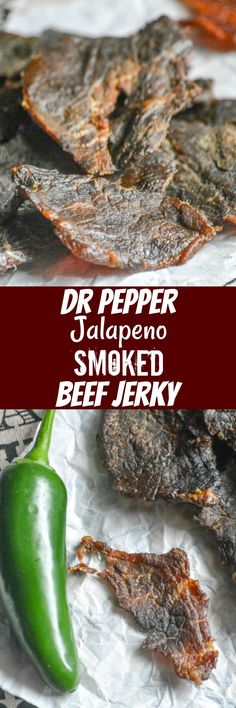 Tender smoked beef jerky is an amazing treat, but marinated in a Dr Pepper® Jalapeno infused sauce and slowly smoked to perfection? It's the perfect snack for summer. #PickYourPepper #ad