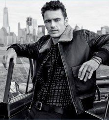 James Franco Rocks a Leather Jacket for Coach Fragrance Campaign
