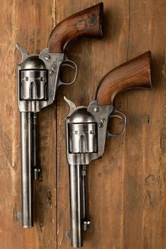 Peacemakers, a classic but basic western a pistol. Weapons Guns, Guns And Ammo, Single Action Revolvers, Revolver Pistol, Lever Action Rifles, Gun Holster, Holsters, Home Defense, Cool Guns