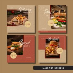 Fast food social media post template with elegant brown toned pattern design. Anyone can use this easily. Enjoy #vecteezy #freedownload #freeresources #freetemplate #foodbanner #food #fastfood #elegant #instagram #feed #post #brown #red #toned #pattern Instagram Feed Ideas Posts, Instagram Feed Layout, Instagram Design, Food Graphic Design, Food Poster Design, Food Menu Design, Food Banner, Restaurant Menu Design, Social Media Design