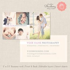 Photography Business Card Template Photoshop by StudioStrawberry