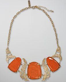 Kendra Scott Goldstone Iggy Necklace toyastales.blogspot.com