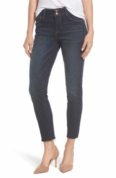 Main Image - Wit & Wisdom Two-Button High Waist Skinny Jeans (Regular & Petite)