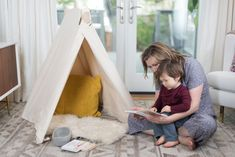 Once your little one is sitting up independently, it is the perfect time to introduce a play tent to their world. A tent allows your child to create a private hideaway or restful oasis all by themselves. Montessori Activities, Activities For Kids, Reading Tent, Kids Tents, Programming For Kids, Indoor Play, Aktiv, Your Child, Toddler Bed