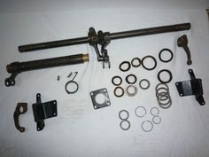 Austin Seven 7 Brake Cross Shaft Assembly Ruby Mk2 with chassis brackets | eBay