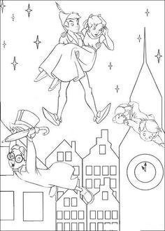 Disegni da colorare Peter Pan 26
