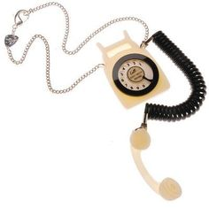 Telephone Pendant £96 - SS09 Leisure Pursuits Tatty Devine, Cute Jewelry, Landline Phone, Telephone, Belt, Sunglasses, Pendant, Accessories, Archive